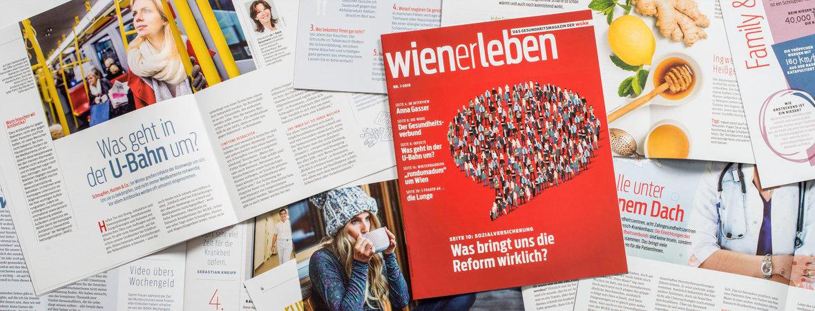"""Seiten aus dem Magazin """"wienerleben"""""""