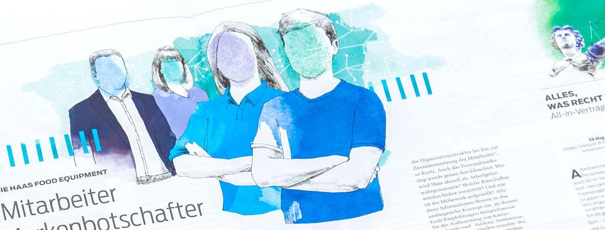 Illustrationen: Maßgeschneidert fürs Kundenmagazin